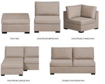 chauffeuse double max composable en tissu home spirit par d stockage canap. Black Bedroom Furniture Sets. Home Design Ideas