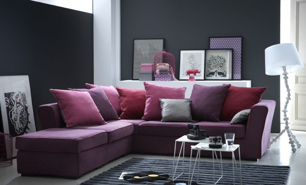 canap d 39 angle tissu watson fixe ou convertible home spirit. Black Bedroom Furniture Sets. Home Design Ideas