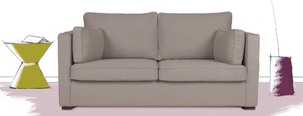 Canap tissu palerme fixe ou convertible home spirit - Canape home spirit prix ...