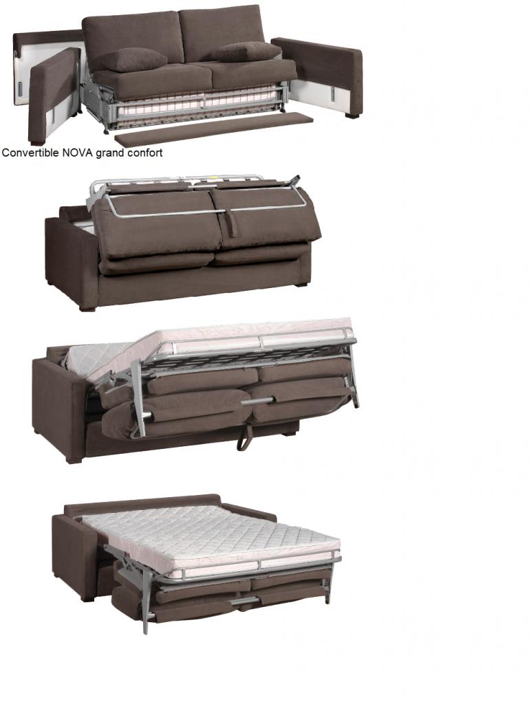canap tissu osman fixe ou convertible home spirit. Black Bedroom Furniture Sets. Home Design Ideas