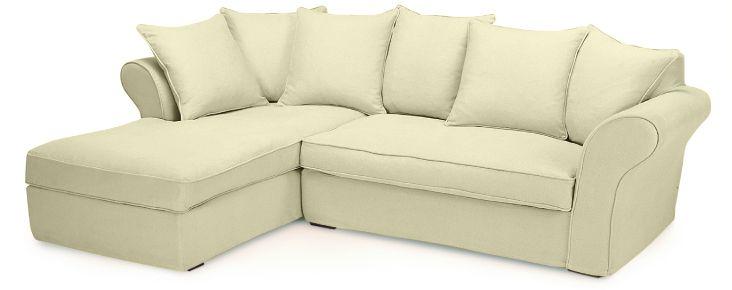 Canapé d'angle beige Perth Plumtex, Melbourne, Home Spirit