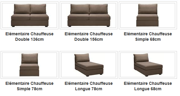 Chauffeuse ELEMENTAIRE composable fixe ou convertible Home Spirit