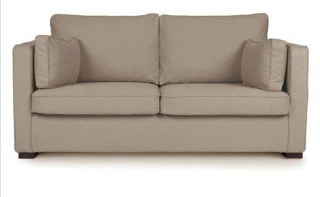 Canapé tissu beige PALERME fixe ou convertible Home Spirit