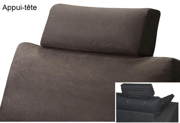 Canap d 39 angle tissu cordoue fixe ou convertible home spirit for Appui tete canape