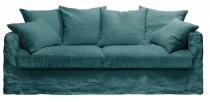 Canapé 100% lin BALI Plumtex  fixe ou convertible Home Spirit