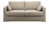 Canapé 100% lin BERMUDES Plumtex  fixe ou convertible Home Spirit