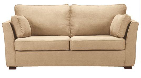 Canapé beige CHARLOTTE fixe ou convertible Home Spirit