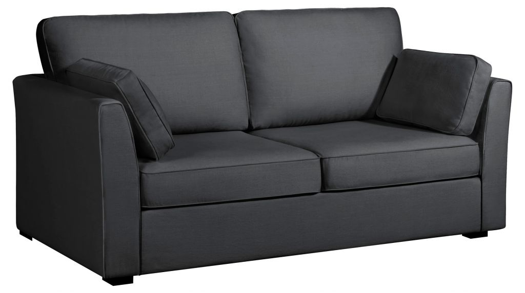 Canapé gris CHARLOTTE fixe ou convertible Home Spirit