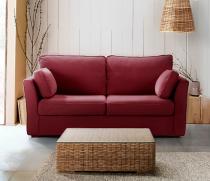Canapé rouge CHARLOTTE fixe ou convertible Home Spirit