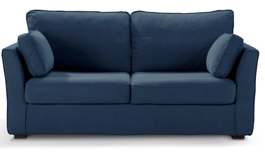 Canapé bleu CHARLOTTE fixe ou convertible Home Spirit