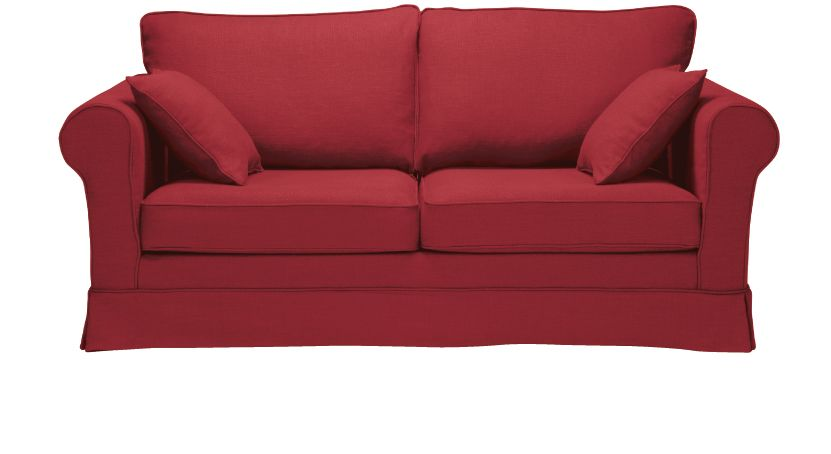 Canapé rouge Cordoue fixe ou convertible Home Spirit