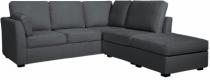 Canapé gris d'angle CHARLOTTE fixe ou convertible Home Spirit