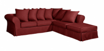 Canapé d'angle rouge HARRY Home Spirit, fixe ou convertible