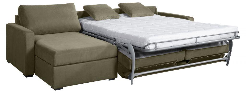 Canapé d'angle tissu OSMAN convertible Home Spirit