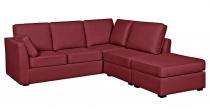 Canapé d'angle tissu CHARLOTTE fixe ou convertible Home Spirit
