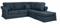 Canapé d\'angle tissu CORDOUE fixe ou convertible Home Spirit