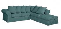Canapé d\'angle tissu HARRY fixe ou convertible Home Spirit