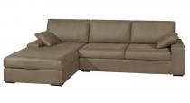 Canapé d\'angle tissu NEPTUNE fixe ou convertible Home Spirit