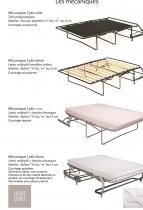 Canapé d\'angle tissu OSMAN fixe ou convertible Home Spirit