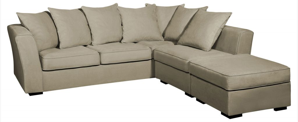 Canapé d'angle tissu beige Watson Home Spirit, fixe ou convertible