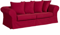 Canapé tissu rouge HARRY Home Spirit, fixe ou convertible