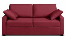 Canapé tissu rouge Osman Home Spirit, fixe ou convertible