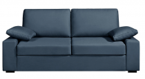 Canapé tissu bleu NEPTUNE fixe ou convertible Home Spirit