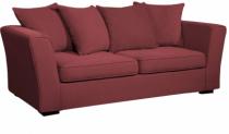 Canapé tissu rouge Watson Home Spirit, fixe ou convertible