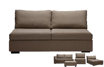 double chauffeuse elementaire composable en tissu home spirit. Black Bedroom Furniture Sets. Home Design Ideas