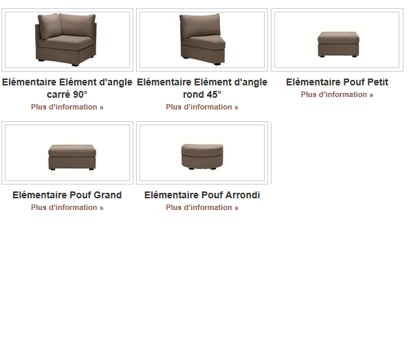 Chauffeuse tissu ELEMENTAIRE 68 cm composable Home Spirit